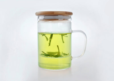 NimaTea Tea Cup with Infuser and Bamboo Lid